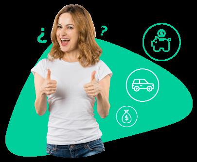 Mujer feliz por haber consolidado sus deudas